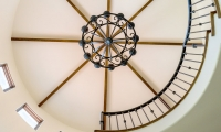spiral to ceiling detail