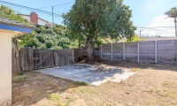 backyard toward fence