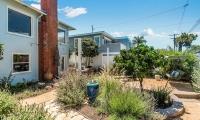 backyard to house & fountain